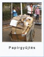 papirgyujtés